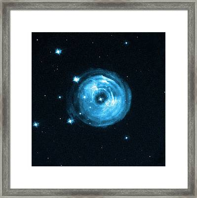 Light Echoes From Exploding Star Framed Print by Nasa, Esa And H.e. Bond (stsci)
