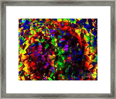 Light Emitting Diode Confetti Framed Print by Imani  Morales