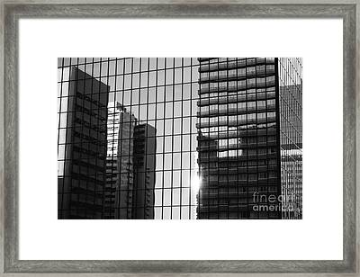 Light Fading In Downtown Tokyo Framed Print by Dean Harte