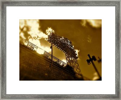 Light  Fenway Park Framed Print by Iconic Images Art Gallery David Pucciarelli