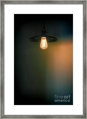 Light Fixture Framed Print