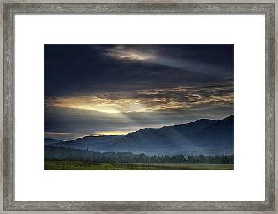 Light From The Heavens Framed Print by Andrew Soundarajan
