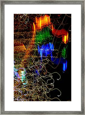 Light Graffitti Resembling Sea Horses Framed Print