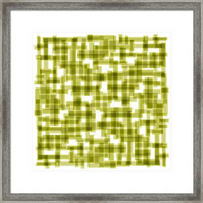 Light Green Abstract Framed Print by Frank Tschakert