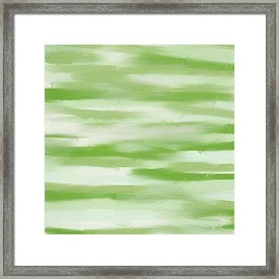 Light Green And White Framed Print by Lourry Legarde