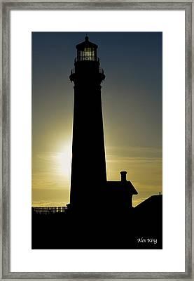 Light House Framed Print by Alex King