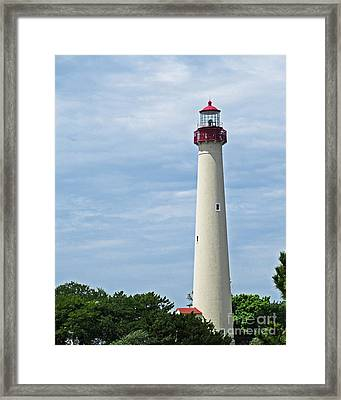 Light House At Cape May Nj Framed Print
