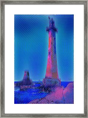 Light House At Sunset 1 Framed Print by Tony Rubino