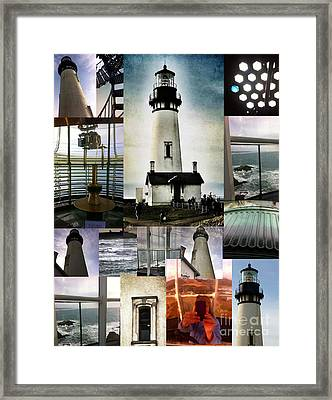 Light House Collage Framed Print by Susan Garren