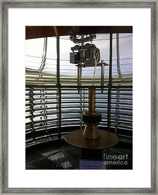 Framed Print featuring the photograph Light House Lamp by Susan Garren