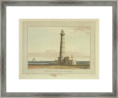 Light House On The Start Framed Print by British Library
