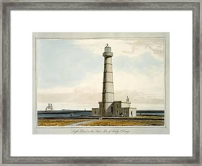 Light House On The Start, Isle Framed Print by William Daniell