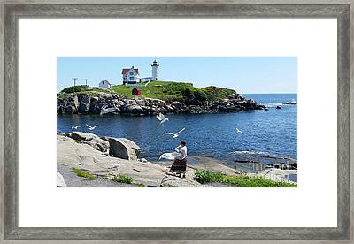 Framed Print featuring the photograph Light House by Rose Wang