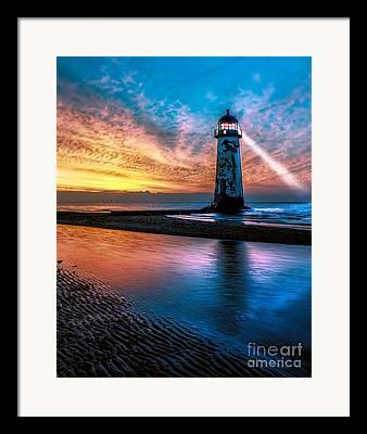 Lighthouse Digital Art Framed Prints