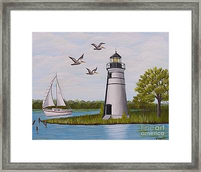 Light  In Madisonville Framed Print