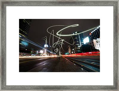 Light In Seoul Framed Print by Yoo Seok Lee