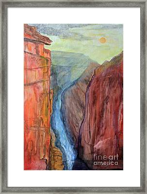 Light In The Canyon Framed Print