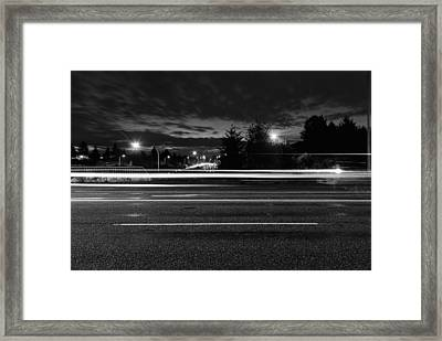 Light In The Dark Framed Print by John Rossman