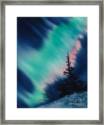 Light In The Dark Of Night Framed Print by Teresa Ascone