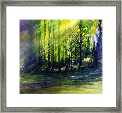 Light In The Hills Framed Print