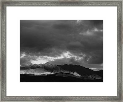 Light In The Mountains Framed Print by Jenny Fish