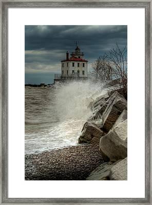 Light In The Storm Framed Print