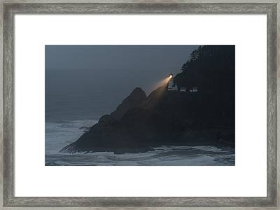 Light In The Storm Framed Print by Loree Johnson
