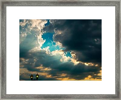 Light In The Storm Framed Print by Pete Trenholm