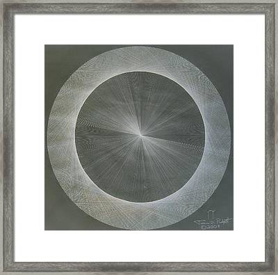 Light Is Pi  The Shape Of Pi Framed Print