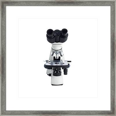 Light Microscope Framed Print by Science Photo Library