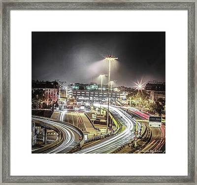 Framed Print featuring the photograph Light Moves by Stwayne Keubrick