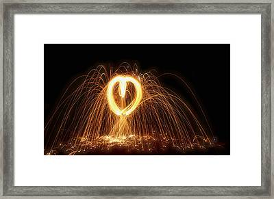 Light My Fire Framed Print by Dan Sproul