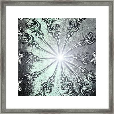 Light Framed Print by Nina Peterka
