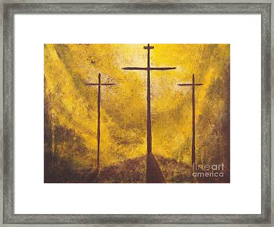 Light Of Salvation Framed Print by Wayne Cantrell