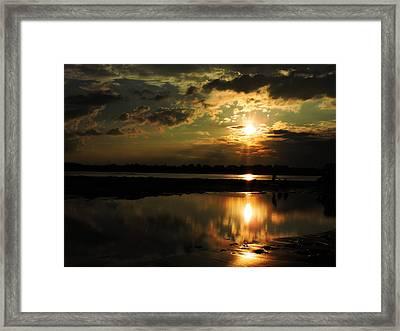 Light Of The Evening Framed Print by Ayan Mukherjee