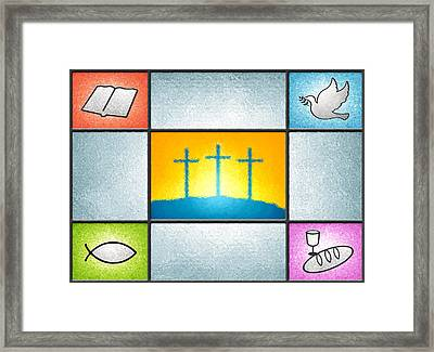 Light Of The World Framed Print by Cristophers Dream Artistry