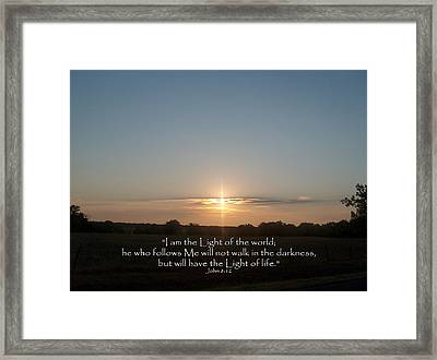 Light Of The World Framed Print by Robyn Stacey