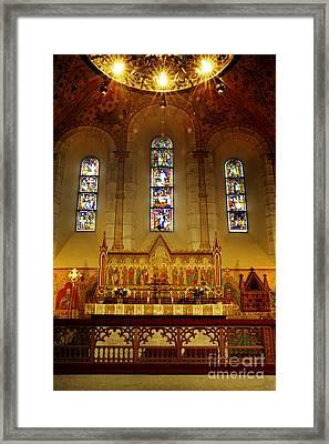 Light Of Worship  Framed Print by Ladi  Kirn