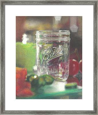 Light On Jar Framed Print by Jimmy Graves