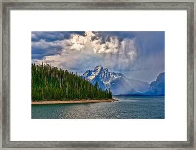 Light On Moran Framed Print