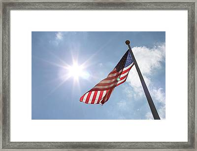 Light On Old Glory Framed Print by Hope Williamson