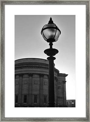 Light On The City In Black And White Framed Print