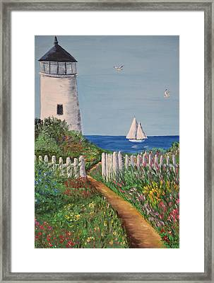 Framed Print featuring the painting Light On The Hill by Debbie Baker