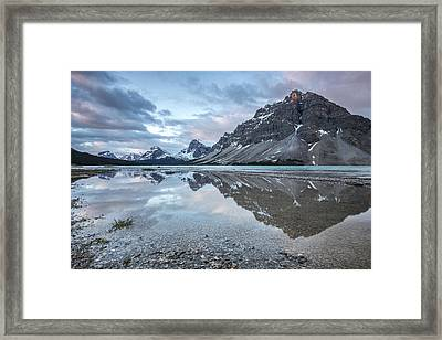 Light On The Peak Framed Print