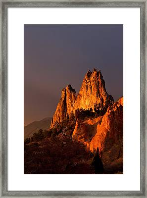 Light On The Rocks Framed Print