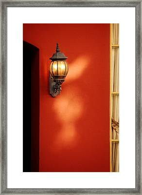 Light On Wall Framed Print