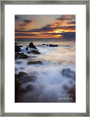 Light Over Lanai Framed Print by Mike  Dawson