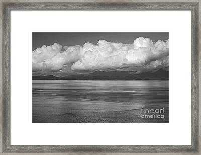 Framed Print featuring the photograph Light Over The Salish Sea by Inge Riis McDonald