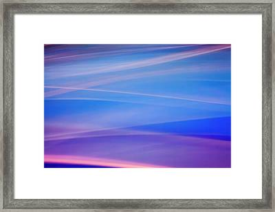 Light Painting Abstract Color Trails Framed Print by James White