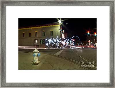 Light Painting Dickson Street Framed Print by Chris  Look